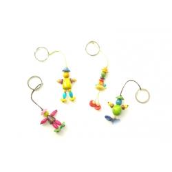 Autres accessoires Porte clé ou bijou de sac Petits personnages en tagua, ivoire végétal par Kokobelli