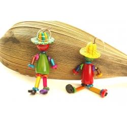La Boutique Porte clés ou Bijou de sac Bonhommeau chapeau Panama en tagua, ivoire végétal par Kokobelli