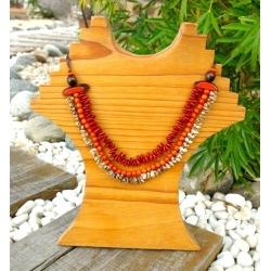 La Boutique Collier Jupati en tagua, ivoire végétal par Kokobelli