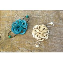 Roses & Fleurs ROSE Chouchou Ajourée en tagua, ivoire végétal par Kokobelli