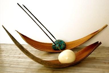 Collection DECORATION, objets déco en Tagua (ivoire végétal) par Kokobelli