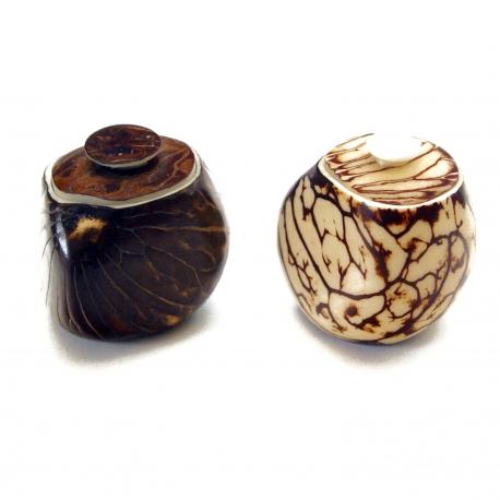 Art de la table en tagua, ivoire végétal - Boîtes en ivoire végétal - kokobelli