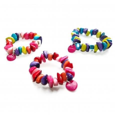 Bracelets, accessoires en tagua, ivoire végétal - Bracelet MINI NAYA - kokobelli