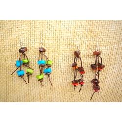 Boucles d'oreilles Naya en tagua, ivoire végétal par Kokobelli