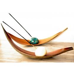 Porte Encens en ivoire végétal en tagua, ivoire végétal par Kokobelli
