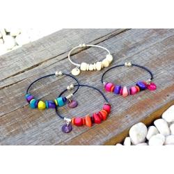 Bracelets Mini NAYA en tagua, ivoire végétal par Kokobelli