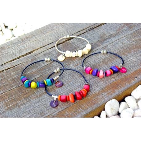 Bracelets en tagua, ivoire végétal - Mini NAYA - kokobelli