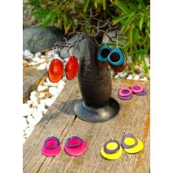Boucles d'oreille BOUCLES VIVA en tagua, ivoire végétal par Kokobelli