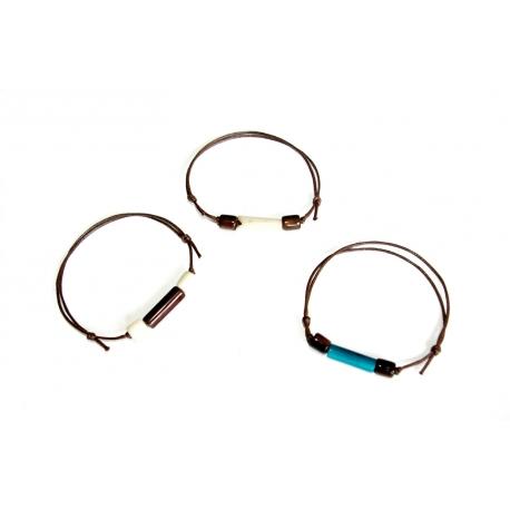 Bracelets en tagua, ivoire végétal - Bracelet Idea (tube) - kokobelli