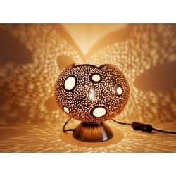 La Boutique Lampe calebasse en tagua, ivoire végétal par Kokobelli