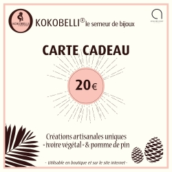 Carte cadeau 20€ en tagua, ivoire végétal par Kokobelli