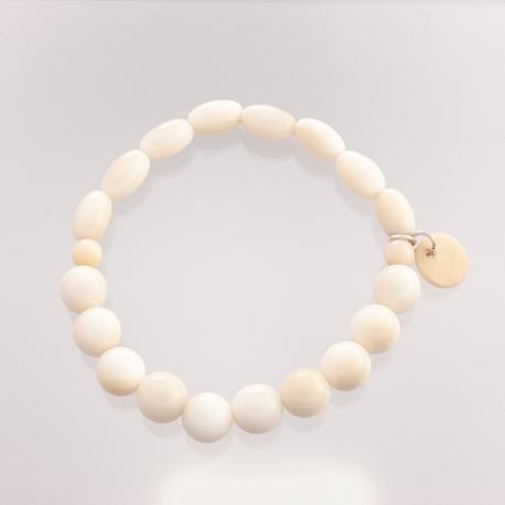 Bracelets en tagua, ivoire végétal - Bracelet Perlina Duo - kokobelli