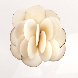Broche Rose blanche