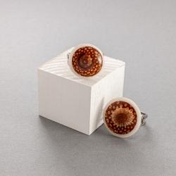 Bague Fibonacci petite en tagua, ivoire végétal par Kokobelli