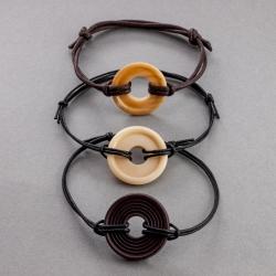 Bracelet Corozo pour lui en tagua, ivoire végétal par Kokobelli