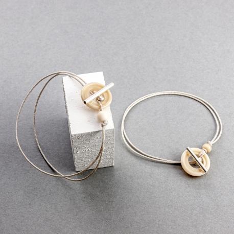 Bracelets en tagua, ivoire végétal - Bracelet Corozo, pour elle - kokobelli