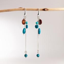 Boucles d'oreilles Suzanna (couleur)