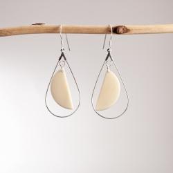 Boucles d'oreilles Demi-lunes (couleur) en tagua, ivoire végétal par Kokobelli