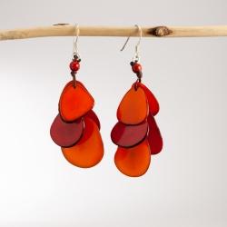 Boucles d'oreilles Cascades (couleur) en tagua, ivoire végétal par Kokobelli
