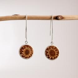Boucles d'oreille Helia en tagua, ivoire végétal par Kokobelli