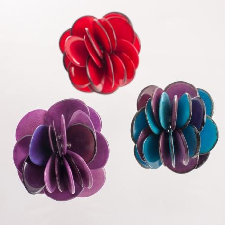 Roses & Fleurs en tagua, ivoire végétal - Bague Rose en tagua - kokobelli