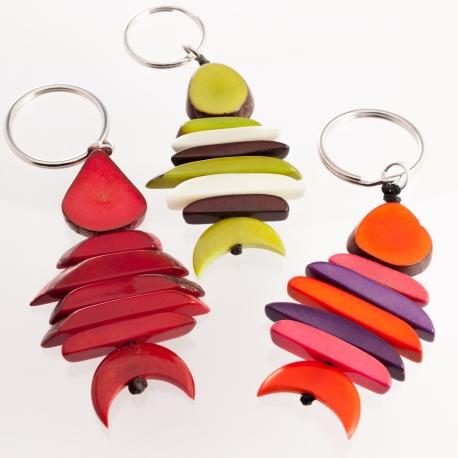 Autres accessoires en tagua, ivoire végétal - Porte clé Poisson - kokobelli