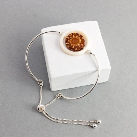 Collection POMME DE PIN en tagua, ivoire végétal - Bracelet Mini Veneto (réglable) - kokobelli