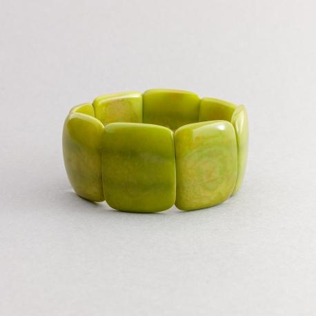 Bracelets en tagua, ivoire végétal - Bracelet Missa uni (coloré) - kokobelli