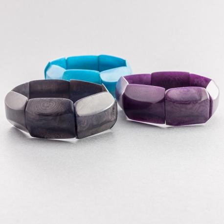 Bracelets en tagua, ivoire végétal - Bracelet Alma - kokobelli