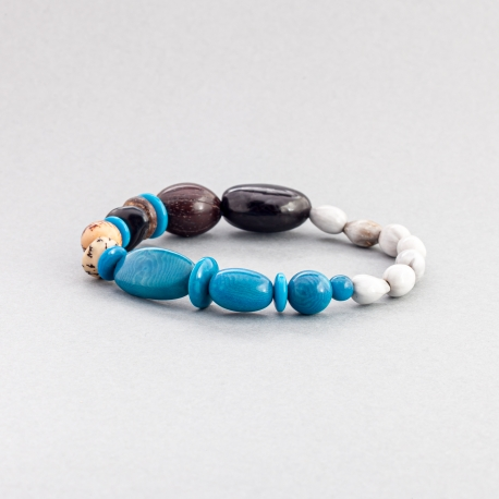 Bracelets en tagua, ivoire végétal - Bracelet Paxa - kokobelli