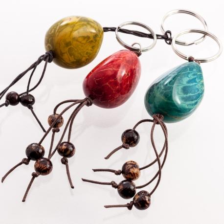 Autres accessoires en tagua, ivoire végétal - Porte clé en ivoire végétal - kokobelli