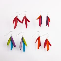 Boucles d'oreilles Plumes (couleurs)