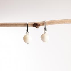 Boucles d'oreille Perla blanches (rondes)