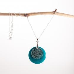 Sélection de bijoux en Tagua, Pendentif Zena (couleurs)