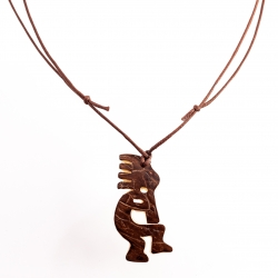 Collier Kokopelli pendentif en tagua, ivoire végétal par Kokobelli