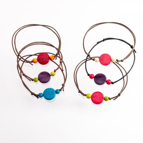 Bracelets, accessoires en tagua, ivoire végétal - BRACELET IDEA Enfant  (pastilles) - kokobelli