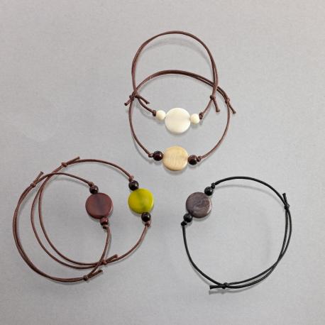 Bracelets en tagua, ivoire végétal - Bracelet Idea - kokobelli