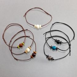 Bracelet Idea (bille) en tagua, ivoire végétal par Kokobelli