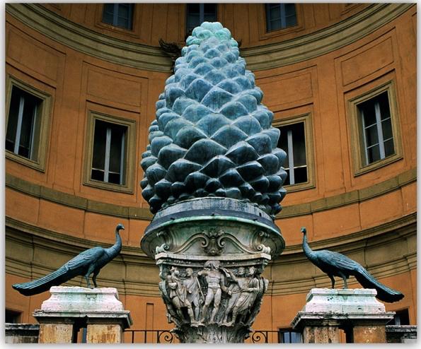 Cour de la Pigna au Vatican Rome