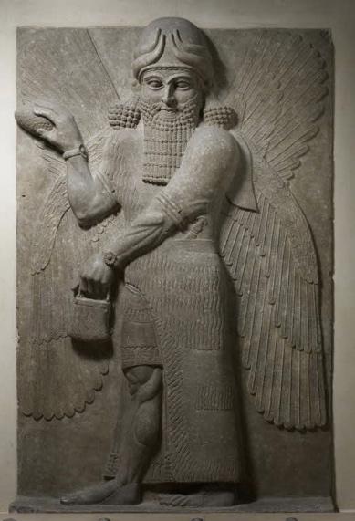 Fresque de Khorsabad musée du Louvre