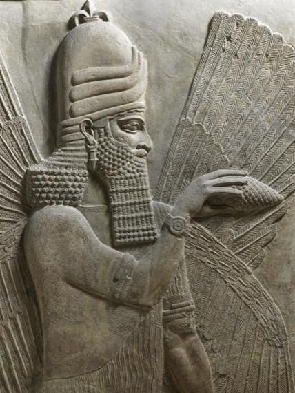 Fresque de Khorsabad au musée du Louvre