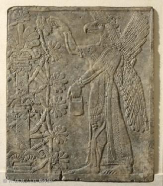 Fresque de Khorsabad du musée du Louvre