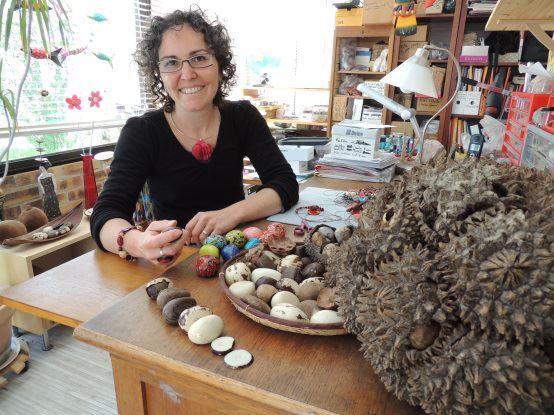 Carole Maret, artisane de Tagua, Kokobelli