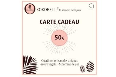 Cartes cadeau à 20€, 30€ et 50€